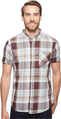 Short Sleeve Washington Plaid Shirt