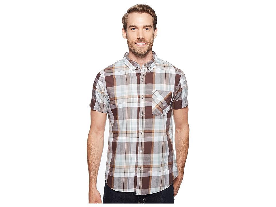 United By Blue Short Sleeve Washington Plaid Shirt (Brown) Men