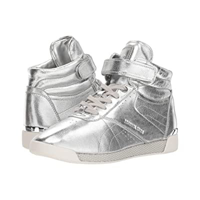 MICHAEL Michael Kors Addie High Top (Silver Metallic Nappa/Mirror Metallic/Small Air Mesh) Women