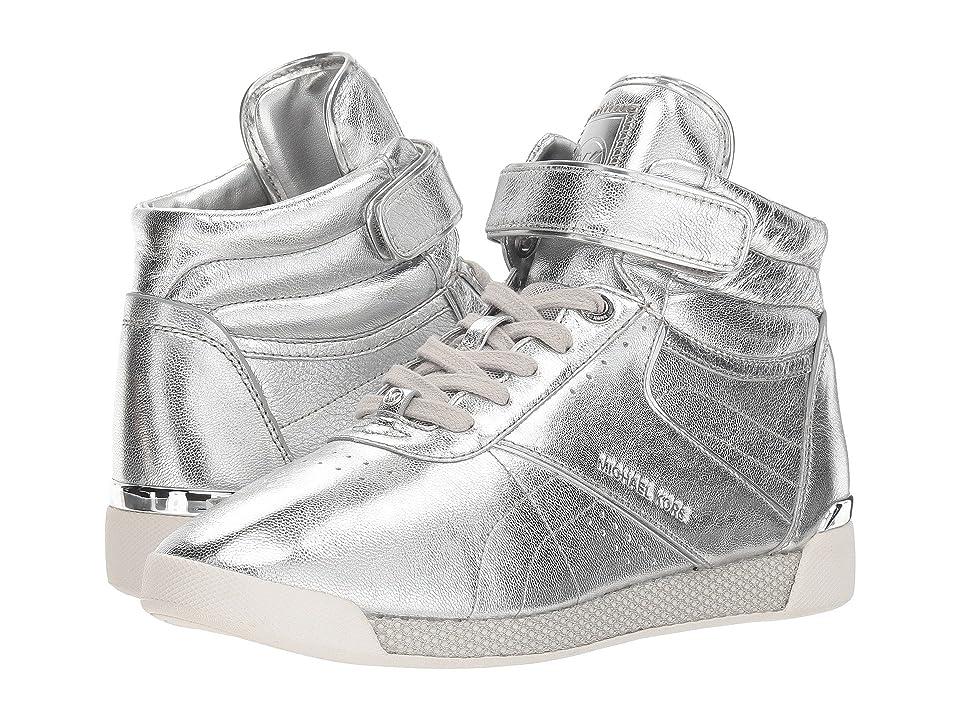 MICHAEL Michael Kors Addie High Top (Silver Metallic Nappa/Mirror Metallic/Small Air Mesh) Women