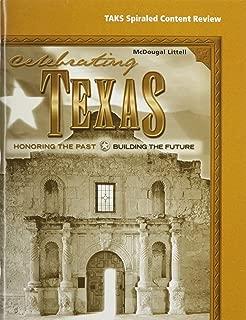 McDougal Littell Celebrating Texas Texas: Spiral TAKS Workbook (Student) Grade 6-8 Honoring the Past, Building the Future