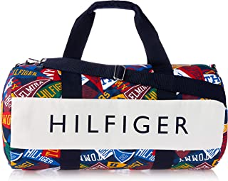 Tommy Hilfiger Unisex Iconic Jack Pennant Canvas Duffle Bag Iconic Jack Pennant Canvas Duffle Bag, Grey, One Size