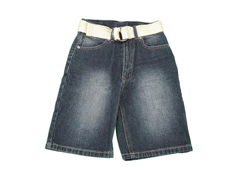 English Laundry Boysサイズ5?Long Denim Shorts W/ベルト、インディゴブルー