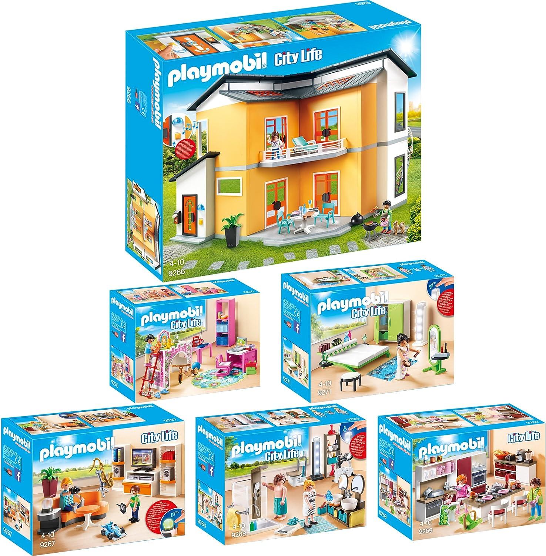 PLAYMOBIL PLAYMOBIL PLAYMOBIL City Life 6er Set 9266 9267 ...