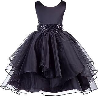 ekidsbridal Asymmetric Ruffled Organza Sequin Flower Girl Dress Toddler Girl  Dresses 012S 34c67758869b
