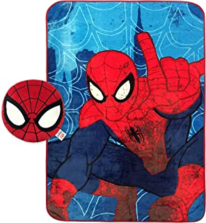 spiderman pillow and blanket