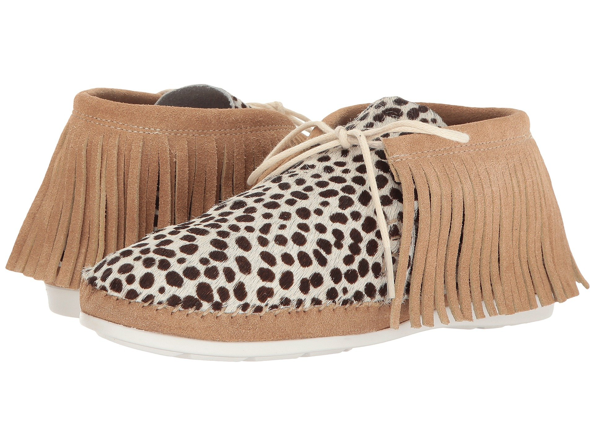 WARM CREATURE Fringe, Leopard Natural