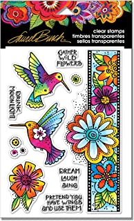 Stampendous SSCL109 Laurel Burch Clear Stamps-Hummingbird Wishes