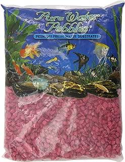 Pure Water Pebbles Aquarium Gravel, 5-Pound, Red Frost