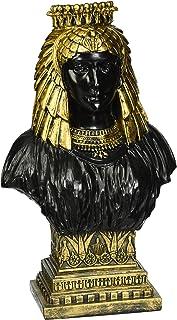 35.5x45.5x53.5 cm Nero Design Toscano WU71550 Busto Scultoreo Neoclassico Regina Cleopatra