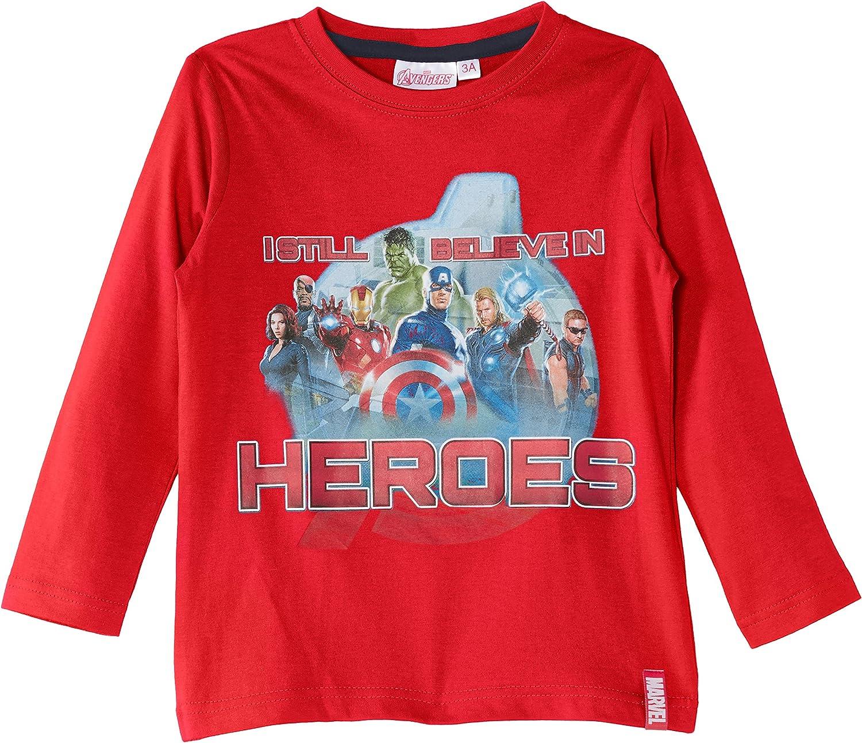 Official Merchandise Birthday Gift Idea for Boys Avengers Super Hero Top Marvel Comics Be Your Own Super Hero Boys Long Sleeve T-Shirt