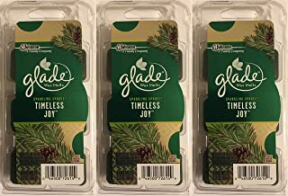 Glade Wax Melts Air Freshener - Holiday Collection 2016 - Sparkling Spruce - Timeless Joy - Net Wt. 2.3 OZ (66 g) Per Package - Pack of 3