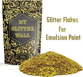 Goldener Wandglitzer für Dispersionsfarbe, 150 g, für den Innen- und Außenbereich