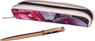 Ted Baker ATED422 Splendor Ballpoint Slim Pen and Stylus In Floral Zip Storage Case, Gold