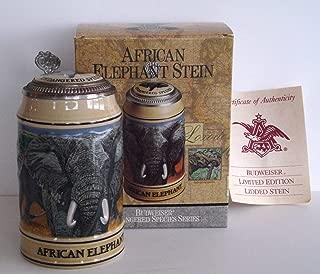 1991 Budweiser Endangered Species Series, Lidded Beer Stein, African Elephant