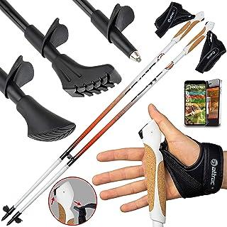 ATTRAC Nordic Walking Stavar Aluminium inklusive tränings- och handledsremmar I Walking Stavar med Click & GO System I FRE...