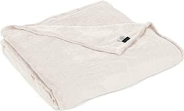 Northpoint Newport Micro Fleece Plush Blanket, Queen, Ivory