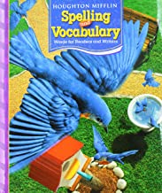 Houghton Mifflin Spelling and Vocabulary: Consumable Student Book Continuous Stroke Grade 3 2006