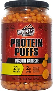 Twin Peaks Low Carb, Keto Friendly Protein Puffs, Mesquite Barbecue (300g, 21g Protein, 2g Carbs, 120 Cals)