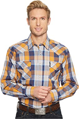 Modern Fit Western Plaid