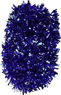 "Beistle Metallic Festooning Garland 6-Ply, Hanging Decorations, 4"" x 15', Blue"