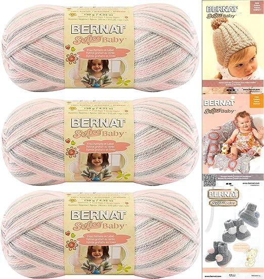 Bernat Softee Baby Yarn - 3 Pack