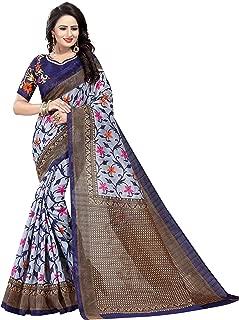 Indian Women Saree Wedding Traditional Gift Printed Designer Saree Bridal Collection Silk Sari with Unstitched Blouse