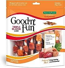 Good'N'Fun Triple Flavored Rawhide Kabobs For Dogs, 12 Oz