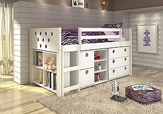 Donco Kids 780-TCP Circles Modular Low Loft Bed, Twin, Dark Cappuccino