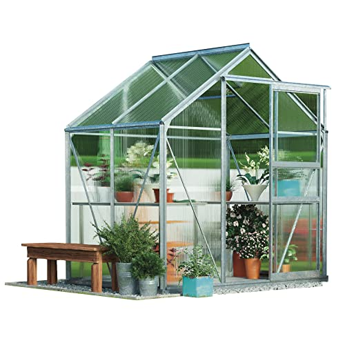 ae0082569eb Polycarbonate Greenhouse Large Walk-in Garden Growhouse