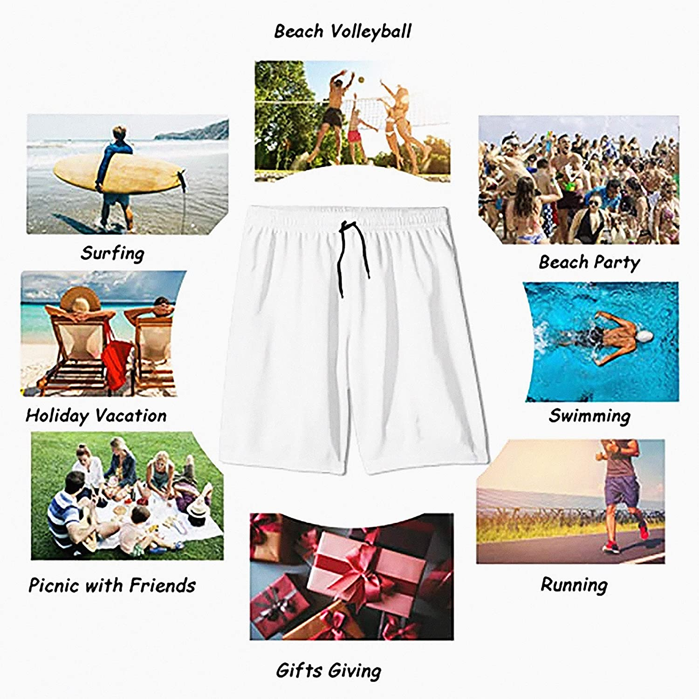 WFYZIYZL Men's Swim Trunks Anderson Tartan Quick Dry Beach Board Shorts with Mesh Lining
