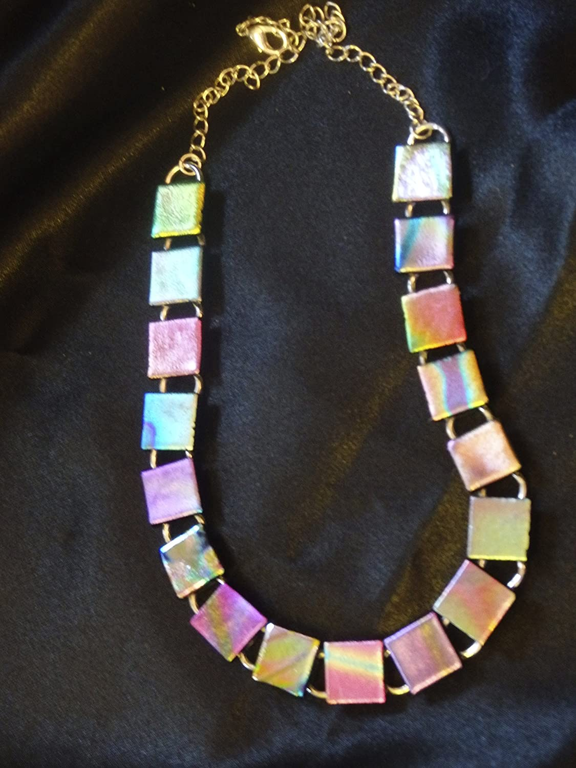 Fused Same day shipping glass necklace choker Challenge the lowest price