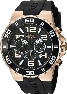Invicta Men's Pro Diver Stainless Steel Quartz Watch with Polyurethane Strap, Black
