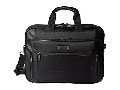 Kenneth Cole Reaction An Easy Decision 5 Double Gusset Top Zip EZ-Scan Portfolio/Computer Case (Black) Computer Bags