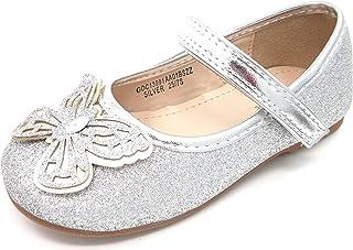 Infant Girls BMS BATURA Glitter Butterfly Bar Shoe Gold,Silver size 4,5,6,7,8,9
