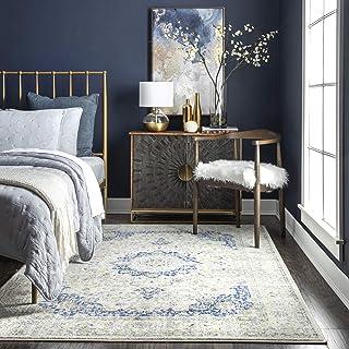"""nuLOOM Paisley Verona Vintage Persian Area Rug, 5' x 7' 5"""", Blue"""