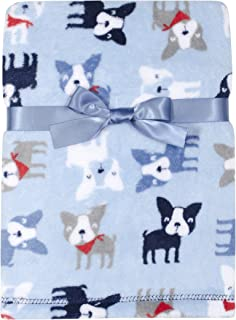 Baby Gear Plush Velboa Ultra Soft Baby Boys Blanket 30 x 40, Puppies