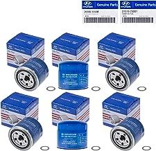 Set Of 6 Genuine OEM Oil Filter 26300-35504 Plug Gasket 21513-23001 For Hyundai