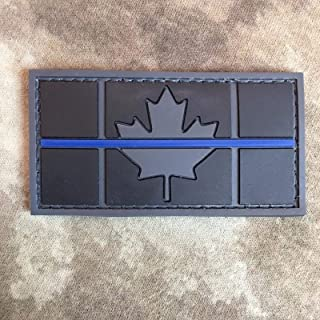 Subdued Thin Blue Line Canadian Flag PVC Patch