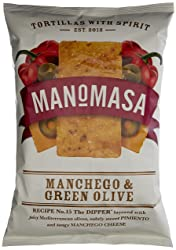 Manomasa Manchego and Green Olive Tortilla Chips, 160 g