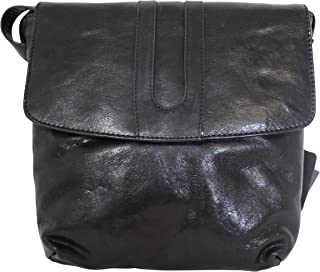Leather Guild Design Studio Pell Mell Rhona Black Leather Cross Body Purse Bag
