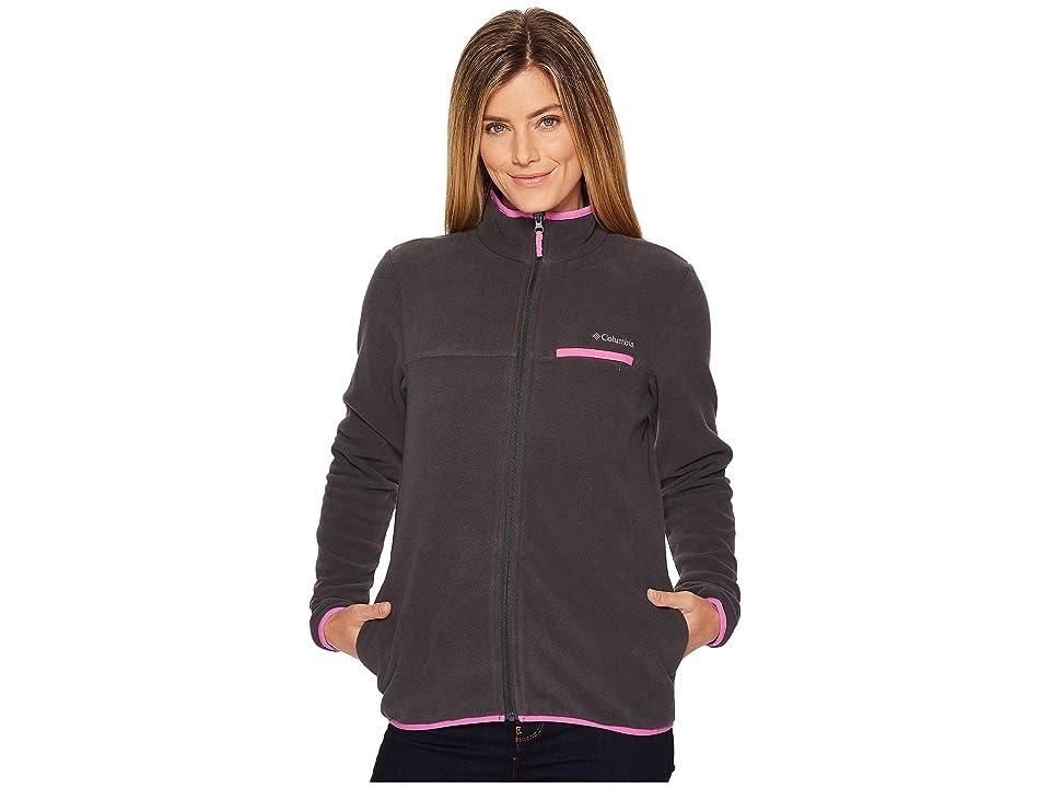 Columbia Mountain Crest Full Zip (Shark/Bright Lavender) Women