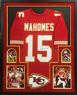 patrick mahomes autographed jersey framed