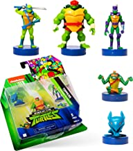 NINJA TURTLES Teenage Mutant Stampers, Set of 5 – Self-Inking Washable Stamps Double as playable Figures, Party Supplies –...