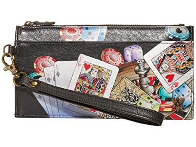 Anuschka Handbags Organizer Credit Card Wristlet Wallet 1151 (High Roller) Bags