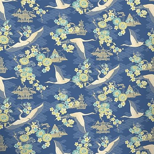 df95d634976 Birds Wallpaper Flowers Floral Temple Oriental Metallic Shiny 4 Colours  Rasch
