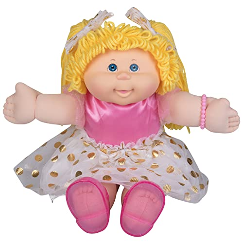 "Cabbage Patch Kids 11/"" Pink Retro Baby Blue Eyes Caucasian Girl Blonde Hair"