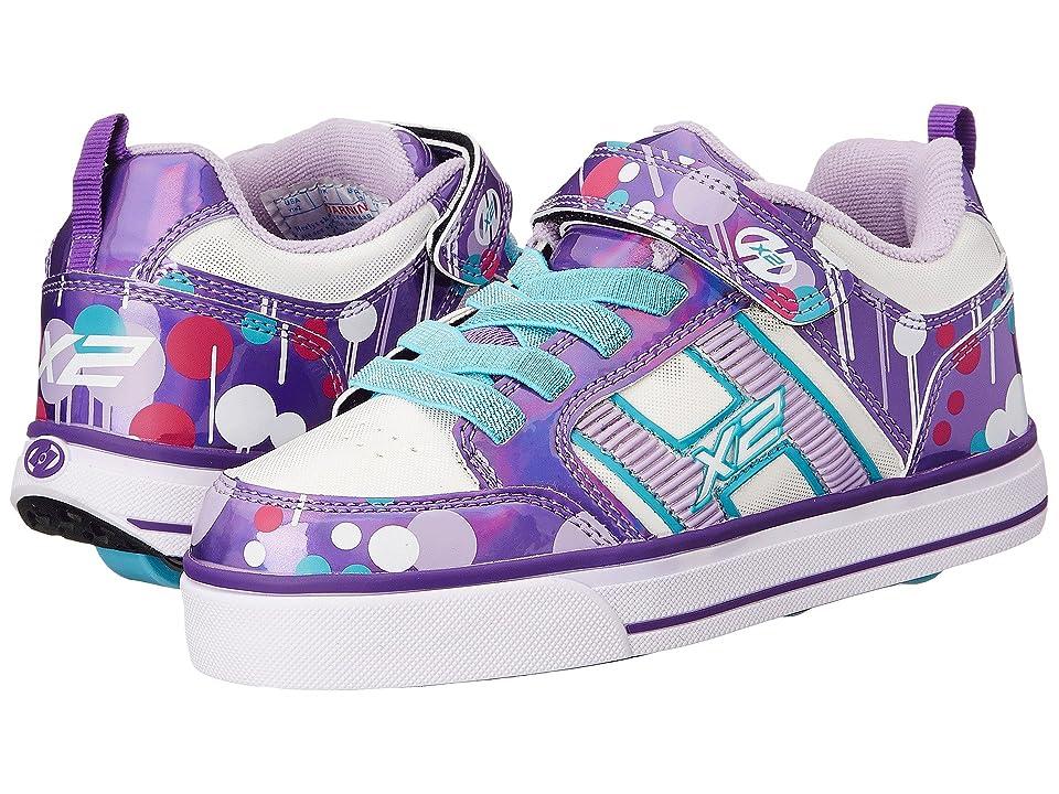 Heelys Bolt Plus X2 Lighted (Little Kid/Big Kid/Adult) (Purple/White/Drip) Girl