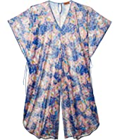 Printed Long Cover-Up Jumpsuit