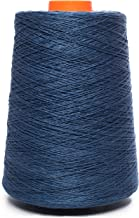 Linen Yarn Cone - 100% Flax Linen - 1 LBS - Dark Blue Color - 3 PLY - Sewing Weaving Crochet Embroidery - 3.000 Yard